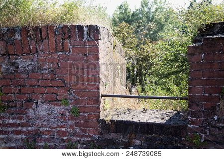 Brick Wall Of A Castle