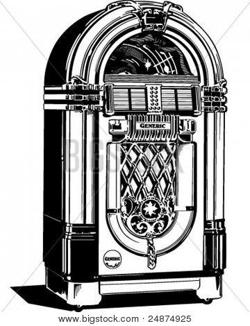 Jukebox 1 - Retro Clipart Illustration