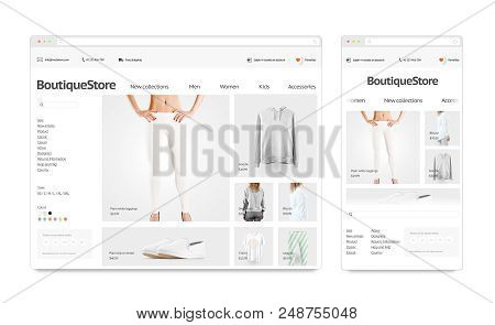 Fashion Web Store Image & Photo (Free Trial) | Bigstock