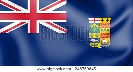 3d Canadian Blue Ensign (1868-1921). 3d Illustration.