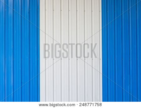 Blue Metal Sheet Switch White Vertical Image