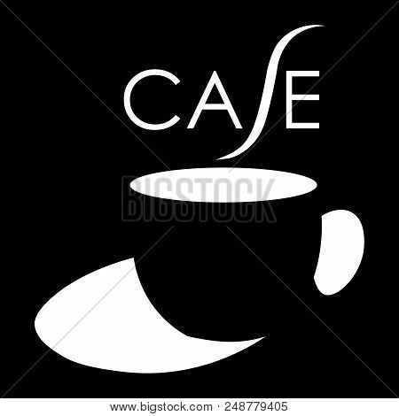 A Cup Of Coffee With An Inscription Cafe Using Negative Space Cafe Art Minimalist Logo