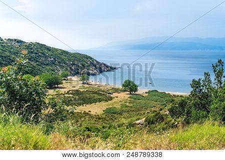 Sea Coast Of Kapidag Peninsula In Erdek