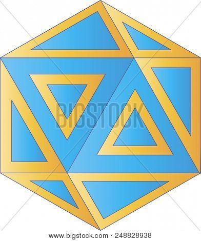 Geometric logo with gradients - digital illustration