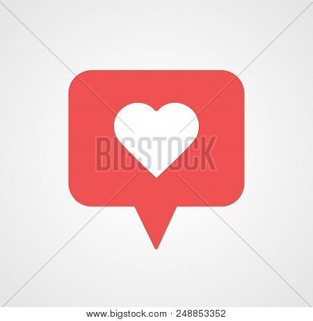New Counter Notification Icon. Icon 1 like. Insta, Instagram like, heart icon. Social media like. Follower. Vector illustration Vector EPS 10.