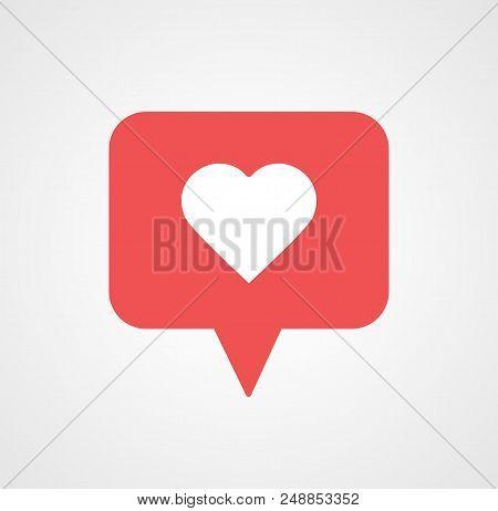 New Counter Notification Icon. Icon 1 like. Insta, Instagram like, heart icon. Social media like. Follower. Vector illustration Vector EPS 10.