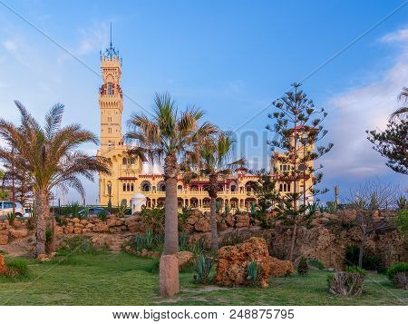 Ancient Royal Palace At Montaza Public Park Before Sunset, Alexandria, Egypt
