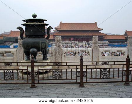 Bejing Urn mit Blick auf Innenhof zu verbotenen Stadt