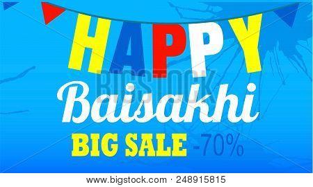 Final Sale Happy Baisakhi Concept Banner. Cartoon Illustration Of Final Sale Happy Baisakhi Vector C