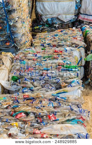 Tayrona National Park, Santa Marta, Colombia. Aoril 2018. A View Of Recycling Collected In Tayrona N