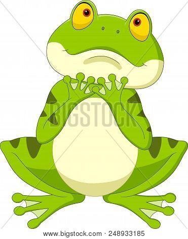Illustration Of Cartoon Frog Isolated On White Background