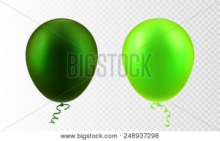 Stock Vector Illustration Realistic 3d Inflatable Air Flying Set Balloon Colorful Frosted Light And