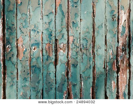 Texture Of Green Wood Wall