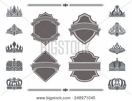 Shields Blank Ribbons Vector Photo Free Trial Bigstock