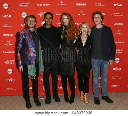 (L-R) Tom Felton, Devon Terrell, Claire McCarthy, Naomi Watts & George MacKay attend the