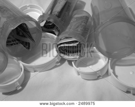 Pill Bottles With Money
