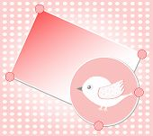 white bird on red vector greeting card background poster