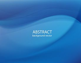Vector Abstract Smooth Color Blue Wave Background.vector Illustration Eps 10