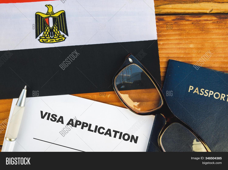 Flag Egypt Visa Image Photo Free Trial Bigstock