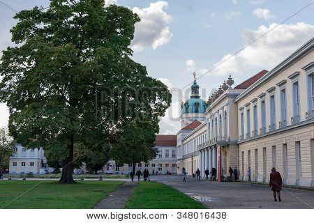 Berlin, Germany- October 5, 2019: View Of The Charlottenburg Palace , A District Of The Charlottenbu
