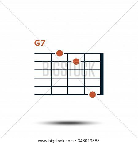G7, Basic Guitar Chord Chart Icon Vector Template