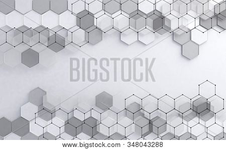 Geometric Shapes In White And Blue Color.futuristic Circuit High Computer Net Business Background.ab