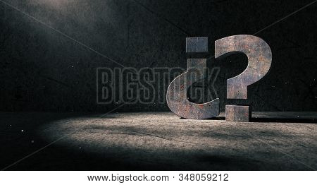 Question Mark Background.concept Of Doubts And Questionnaire.ask And Question.3d Illustration