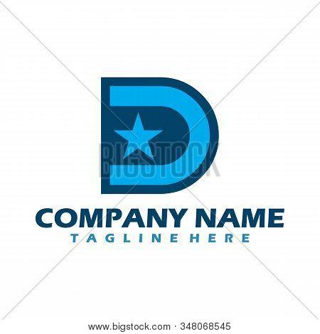 D Dots Logo Design Template. Hexagon D Icon. D Letter Logo Vector. Hexagon Logo, D Letter, D Dots, D