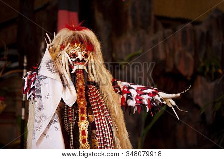 Bali Indonesia, Jan 20 2020 ; Barong And Keris Dance Is A Religious Show In Bali Based On The Great