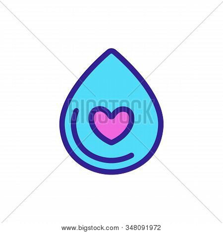Water Shortage Icon Vector. Thin Line Sign. Isolated Contour Symbol Illustration