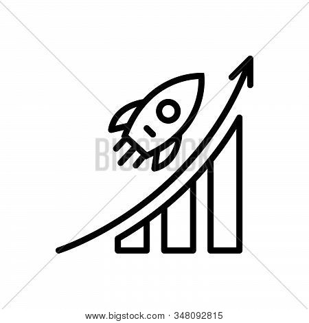 Black Line Icon For Career-advancement Career Advancement Promotion Analysis Successful Opportunity