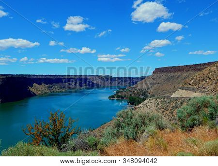 Big Billy - Summer View At Lake Billy Chinook - The Cove Palisades State Park - Near Culver, Or