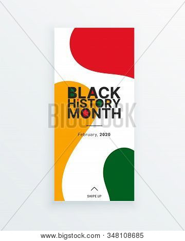 Black History Month Stained Veryical Banner Template. African-american History Month - February - Ce