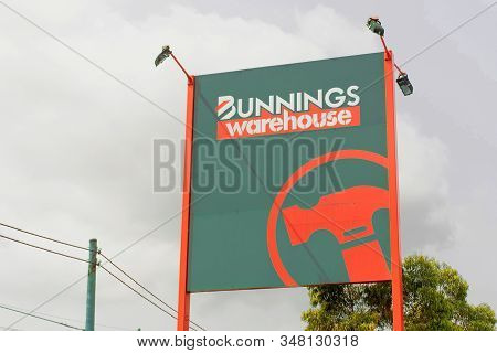 Sydney, Australia - 2020-01-03 Outdoor Signage Of Bunnings Warehouse. Bunnings Is A Largest Househol