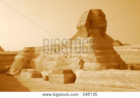 Sphinx In Sepia