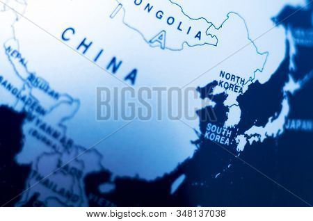 Map of china in blue tone