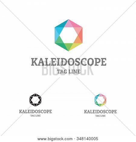Kaleidoscope Comb Logo  Flat Design Of Logo, With Colorful Kaleidoscope Palette, Could Be Used In Ma