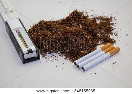 Production Of Cigarette Smuggling, Illicit Cigarette Production, Crime Production And Sale Of Cigare