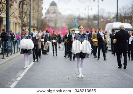 Vilnius, Lithuania - April 9, 2016: People Participating In Physicists Day (fidi), A Humorous Event