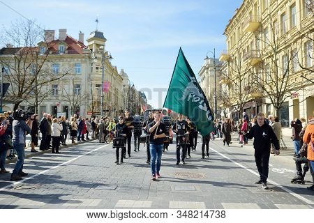 Vilnius, Lithuania - April 7, 2018: People Participating In Physicists Day (fidi), A Humorous Event