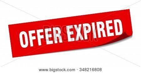 Offer Expired Sticker. Offer Expired Square Sign. Offer Expired. Peeler