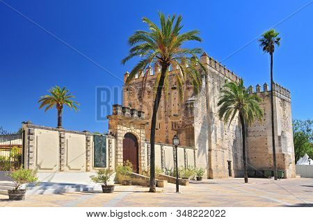 Alcazar In The Town Of Jerez De La Frontera, Costa De La Luz, Province Of Cadiz, Andalusia, Spain.