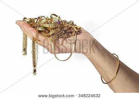 Handful Of Gold Jewelry