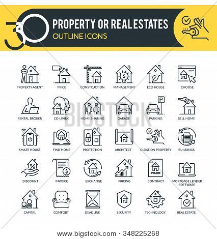Property Or Real Estates Icons
