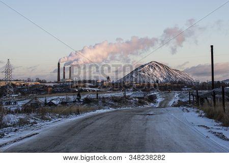 Yarega Is An Urban-type Settlement Located In Komi Republic, Russia. The Yaregskoye Oil Field Is Bei
