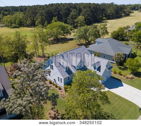 Beautiful two story home with golf course out the back door.