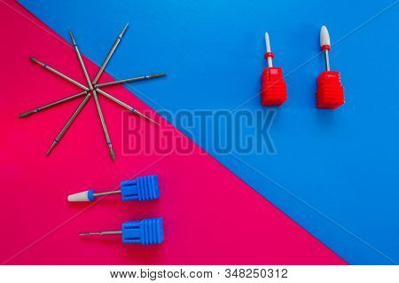 A Set Of Cosmetic Tools For Manicure And Pedicure Closeup.nef