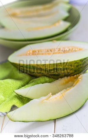 Fresh Ripe Melon Closeup