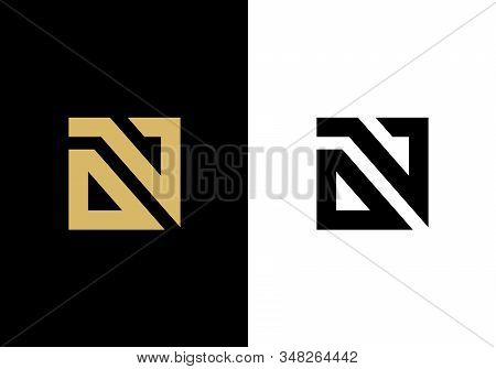 Initial Letter On Or Ov Logo Icon Design, Square Shape Typohraphy - Vector