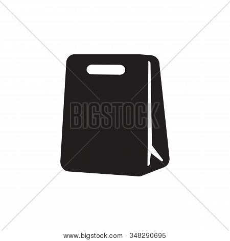 Shopping Bag Icon Isolated On Black Background. Shopping Bag Icon In Trendy Design Style. Shopping B